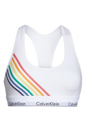 Calvin Klein Modern Cotton Pride Edit Bralette white