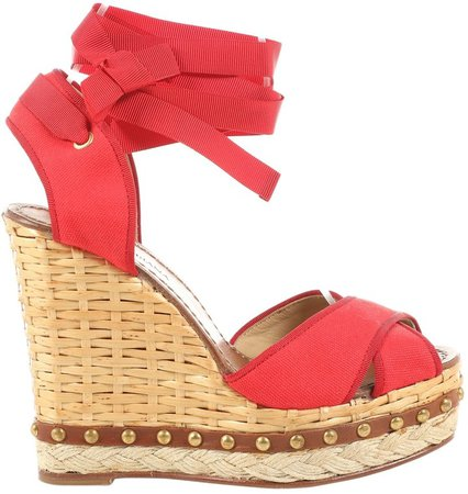 Red Cloth Sandals