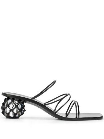 Cult Gaia Kelly Leather Sandals - Farfetch
