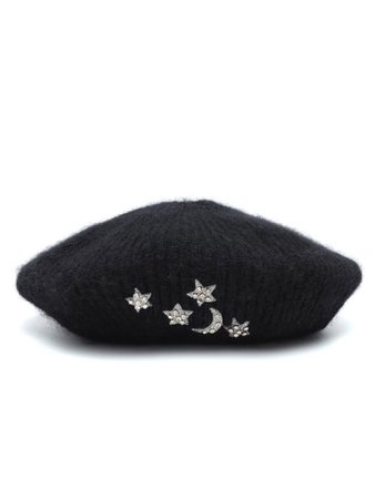 Jennifer behr for Mytheresa / embellished mohair beret