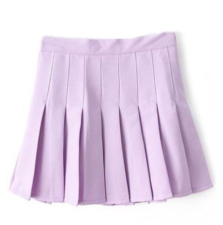 Pastel Purple Pleated Skirt