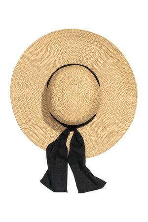 Paper straw sun hat - Natural - Ladies | H&M GB