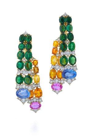 multi colored earring