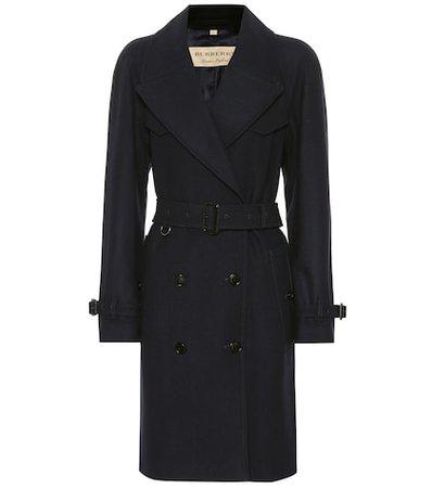 Herringbone wool-blend trench coat