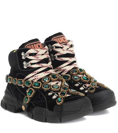 Flashtrek Velvet Sneakers - Gucci | Mytheresa