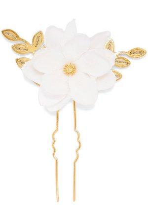 Mallarino | Gaby gold vermeil and silk hair pin | NET-A-PORTER.COM