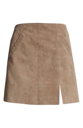 BLANKNYC Suede Miniskirt   Nordstrom