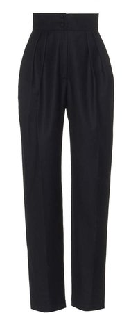 MATERIEL Pleated High-Waist Pants