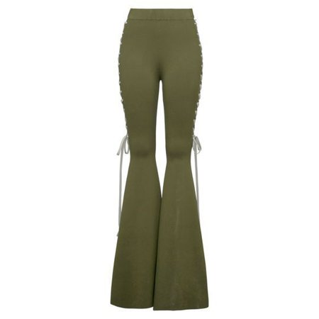 Lace Side Bell Bottom Pants