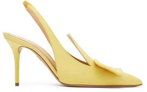 X Charlotte Olympia Grosgrain Slingback Pumps - Womens - Yellow