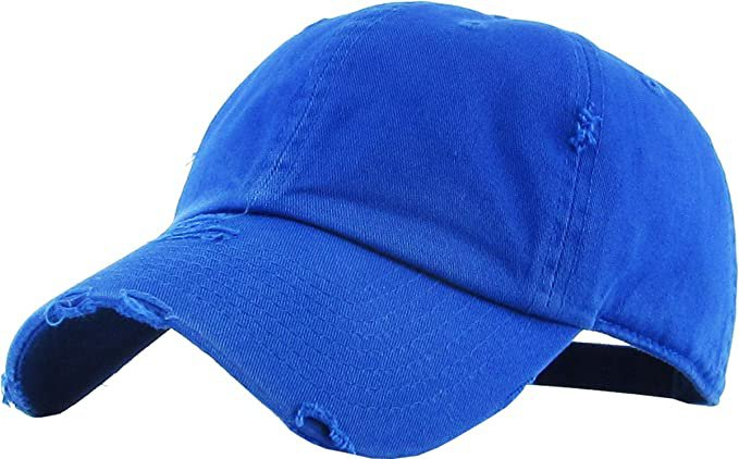 *clipped by @luci-her* KBE-Vintage BDM Vintage Washed Cotton Dad Hat Baseball Cap Polo Style Blue: Clothing