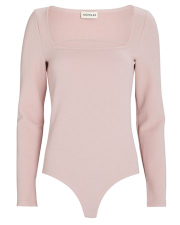 Nicholas Thalia Square Neck Knit Bodysuit | INTERMIX®