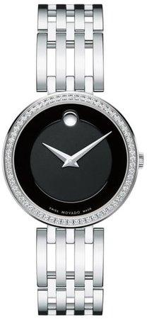 'Esperanza' Diamond Bezel Bracelet Watch, 28mm