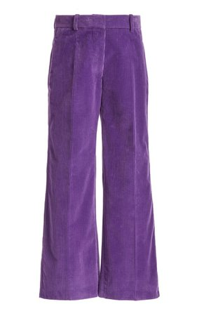 Cropped Corduroy Wide-Leg Trousers By Victoria Beckham | Moda Operandi