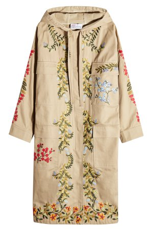 Embroidered Cotton Parka Gr. M