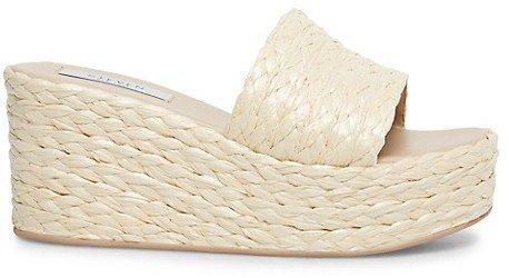 Chance Raffia Wedge Sandals