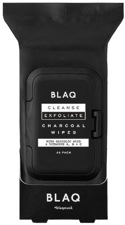 BLAQ Charcoal Face Wipes