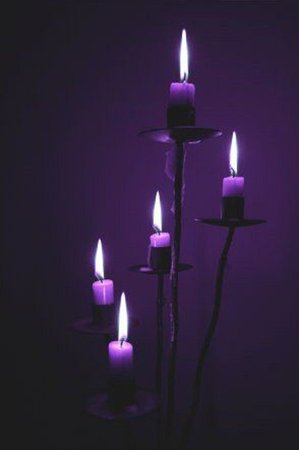 purple candles goth no background - Google Search