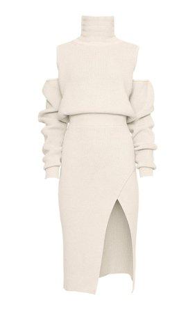 Knit Wool-Blend Cutout Midi Dress by Brandon Maxwell   Moda Operandi