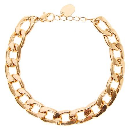 Gold Chain Link Bracelet | Claire's US