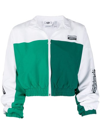 Green Adidas Cropped Track Jacket   Farfetch.com