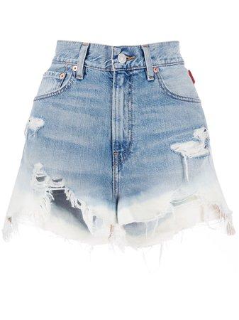Denimist Ripped Denim Shorts - Farfetch
