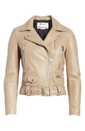 Acne Studios Mock Core Leather Moto Jacket | Nordstrom
