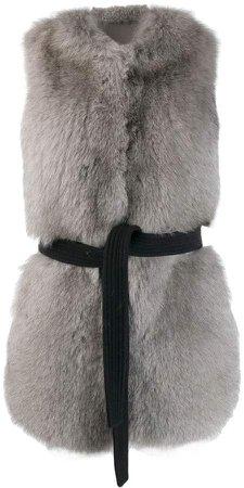Blancha sleeveless belted coat