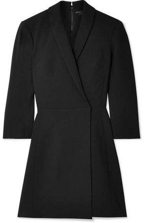 Alice Olivia - Brenda Wrap-effect Cady Mini Dress - Black