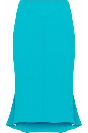 Fluted wool-crepe pencil skirt | ROLAND MOURET | Sale up to 70% off | THE OUTNET