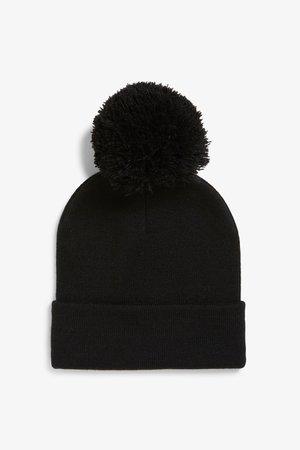 Pom pom beanie - Black magic - Hats - Monki GB