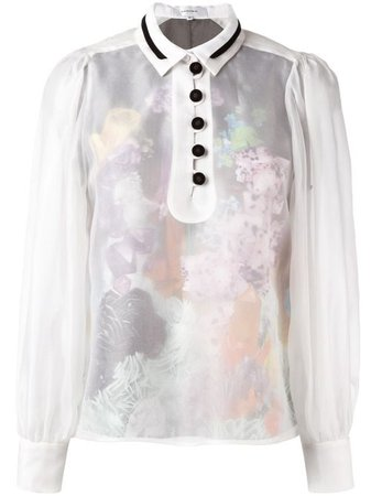 Carven Sheer Buttoned Blouse - Farfetch