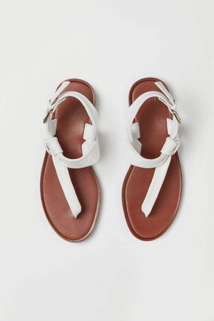 Leather Sandals - White