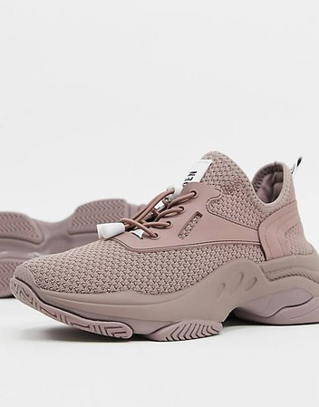 Steve Madden Match pink chunky trainers | ASOS