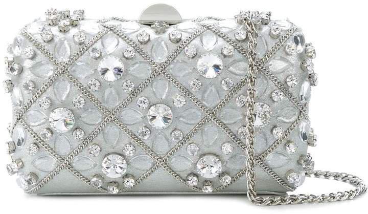 embellished hardshell clutch