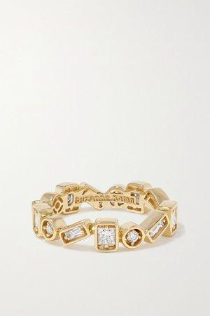 Gold 18-karat gold diamond ring | Suzanne Kalan | NET-A-PORTER