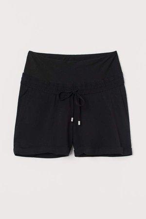 MAMA Viscose Shorts - Black