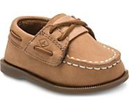 Little Kid's Authentic Original Crib Hook & Loop Boat Shoe - View All | Sperry