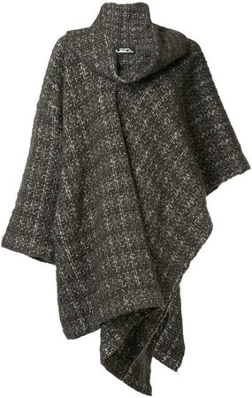 Pre-Owned plaid knitted coat