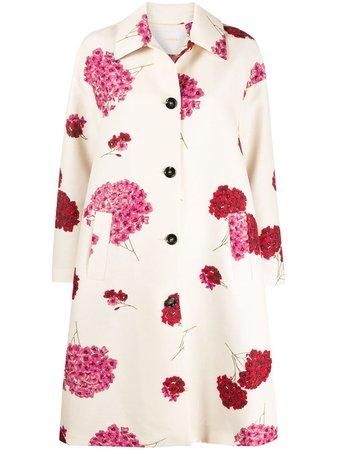 La Doublej floral-print Coat - Farfetch