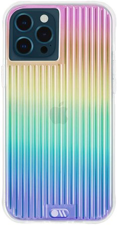 Amazon.com: Case-Mate - Tough Groove - Case for iPhone 12 Pro Max (5G) - 10 ft Drop Protection - 6.7 Inch - Iridescent