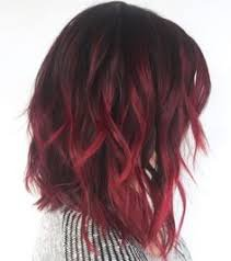 ombre hair colour - black and red