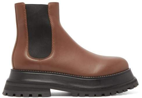 Braemar Chunky Leather Chelsea Boots - Womens - Tan