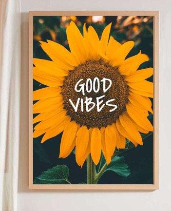 good vibes w sunflower