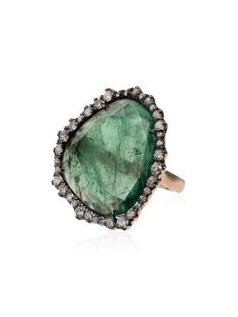 Kimberly Mcdonald 18kt Yellow Gold Emerald Slice Diamond Ring