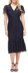Lace Ruffle Hem Dress
