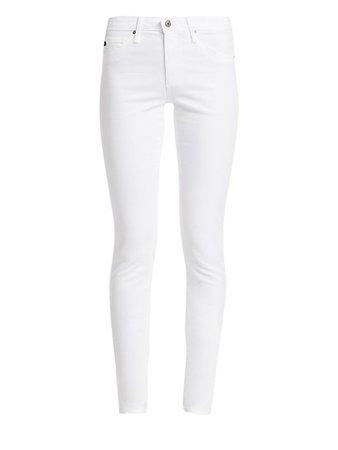 AG Jeans Prima Sateen Mid-Rise Cigarette Pants | SaksFifthAvenue