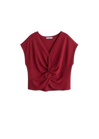 MANGO Knot detail blouse