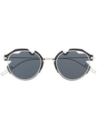 Dior Eyewear Breaker Asymmetric round-frame Sunglasses - Farfetch
