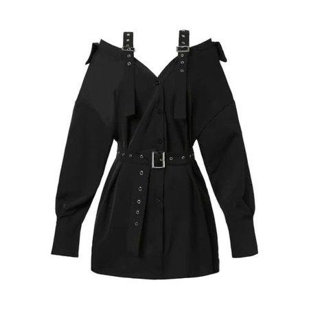 Female Harajuku Gothic Off Shoulder Sexy Shirt Dress
